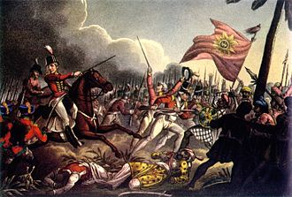 84th Punjabis - Image: 2 12th Madras Native Infantry at the Battle of Assaye, 1803. Painting by JC Stadler (1780 1822), c. 1815