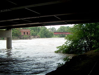 Mahoning River - Mahoning river in Warren, Ohio