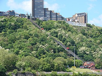 Mount Washington, Pittsburgh (mountain) - Image: 2008 05 24 Pittsburgh 040 Duquesne Incline (2669552496)