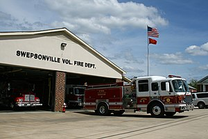 Volunteer fire department - The volunteer fire department of Swepsonville, North Carolina