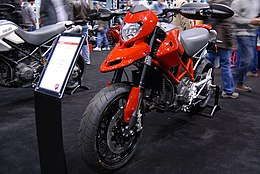 2010 Ducati Hypermotard 796 at the 2009 Seattle International Motorcycle Show 2.jpg
