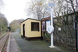 2013 at Coombe Junction Halt - view north along the platform.jpg