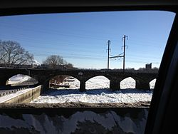 2014-01-24 13 54 46 View south along the icy Delaware River from the Trenton-Morrisville Toll Bridge.JPG
