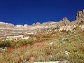 2014-09-24 08 30 39 View west toward Lizzie's Window and Hole-in-the-Mountain Peak from Lizzie's Basin in the East Humboldt Range, Nevada.JPG