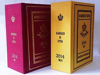 Almanach de Gotha - Image: 2014 Almanach de Gotha Covers