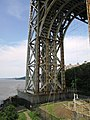 2015 George Washington Bridge north foot of east tower from the Little Red Lighthouse gallery deck during annual tour.jpg
