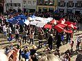 2017-03-12, Pulse of Europe, Pro-Europa-Demo auf dem Augustinerplatz in Freiburg, Trikolore.jpg