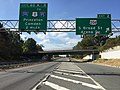2017-10-06 11 21 32 View west along Interstate 195 (Central Jersey Expressway) at Exit 2 (U.S. Route 206, South Broad Street, Arena Drive) in Hamilton Township, Mercer County, New Jersey.jpg