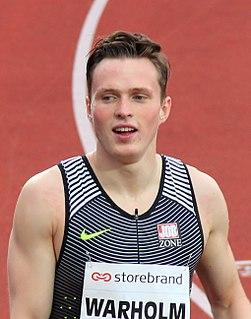 Karsten Warholm Norwegian athletics competitor