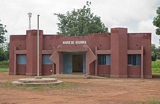 Koumbia, Tuy, Burkina Faso - Municipal administration building (August 2017)