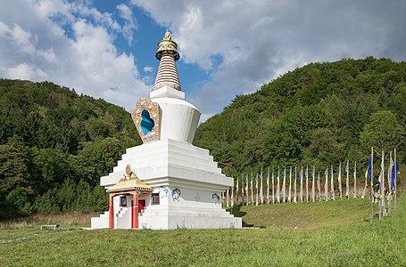 Stupa in Gompa Drophan Ling in Darnków
