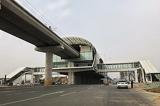 Huanancheng station rapid transit station of Zhengzhou Metro