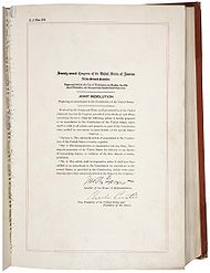 United States Cons Utional Amendment Abolishing Prohibition Amendment Xxi In The National Archives
