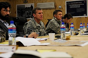 Michael Flynn - General Stanley McChrystal and Flynn in Afghanistan, 2010