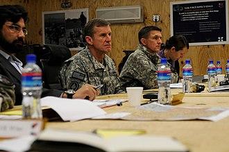 Michael Flynn - General Stanley McChrystal and Flynn in Afghanistan, 2010