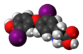 3,3'-Diiodothyronine 3D spacefill.png