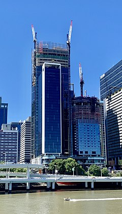 300 George and The One, Brisbane under construction in March 2019, 01.jpg