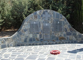 Maleme - Memorial to members of 30 and 33 Squadrons RAF killed in the Battle of Crete