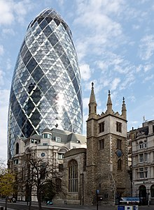 Torre 30 St Mary Axe (Swiss Re), Londres. Norman Foster