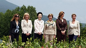 Sarah Jane Brown - Brown with other leader spouses at the 34th G8 summit (2008)