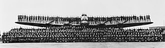 Article XV squadrons - Members of No. 460 Squadron posing with the Lancaster bomber G for George at RAF Binbrook in August 1943