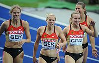 4 x 100 m women's team Germany Berlin 2009.jpg