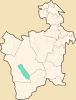 Location of the municipality of San Agustín in the Department of Potosí