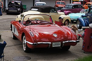 1959 Corvette Convertible Rear