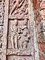 7th century Vishnu avatar Vamana and Trivikrama reliefs, Lakshmana Hindu temple, Sirpur Chhattisgarh India 2.jpg