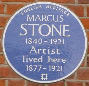 Marcus Stone - Blue plaque