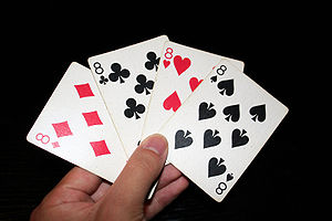 Crazy Eights - Image: 8 playing cards