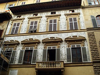 Sgraffito - Image: 9736 Firenze, Palazzo Nasi Foto Giovanni Dall'Orto, 27 Oct 2007