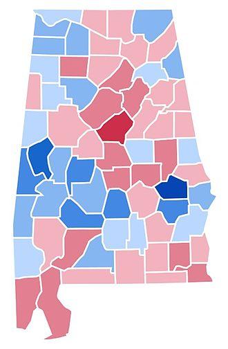 1992 United States presidential election in Alabama - Image: AL1992