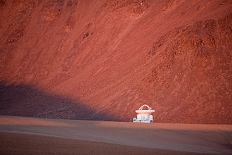 Llano de Chajnantor Observatory - The Atacama Pathfinder Experiment (APEX), a new-technology 12-m telescope in operation since 2005 on Llano de Chajnantor