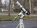 AP german equatorial mount with scope.JPG