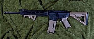 Vertical forward grip - AR-15 with an angled forward grip