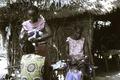 ASC Leiden - Coutinho Collection - C 28 - Life in Sara, Guinea-Bissau - Women braiding hair - 1974.tif
