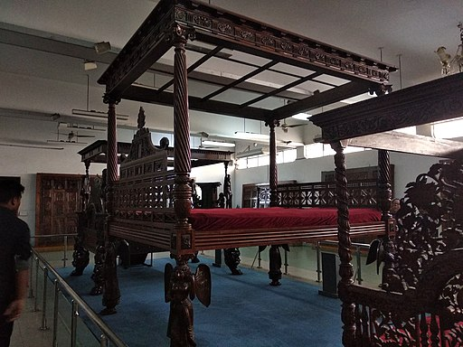 A 10 feet high ancient bed in National Museum of Bangladesh collected from Lohagara,Narail
