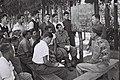 "A HEBREW LESSON AT THE ""EIN GANIM"" IMMIGRANTS CAMP שיעור עברית במחנה העולים ""עין גנים"".D820-123.jpg"