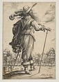 A Man Seen from the Back Leaning on a Croquet Mallet (Le Jouer de mail) MET DP818750.jpg