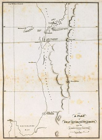 Swan River Colony - Map of Swan River Settlement and Surrounding Country (1831)
