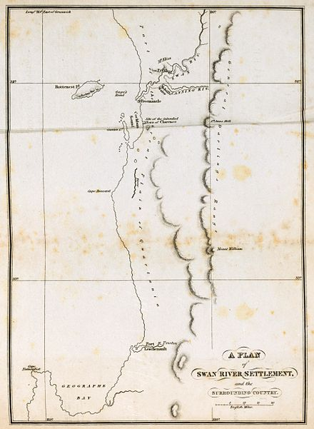 Map of the Swan River Settlement and the surrounding country (1831)
