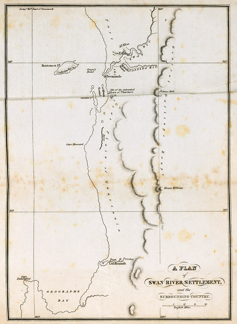A Plan of Swan River Settlement and Surrounding Country