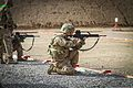 A U.S. Soldier fires a German G36 rifle during a Schutzenschnur, or Federal Armed Forces Badge for Weapons Proficiency, qualification range at Kandahar Airfield, Kandahar province, Afghanistan, March 9 140309-Z-HP669-009.jpg