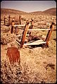"A WOODEN TOMBSTONE AND CEMETERY IN BODIE STATE HISTORICAL PARK. BODIE IS ONE OF THE MOST WELL-PRESERVED ""GHOST TOWNS""... - NARA - 543122.jpg"