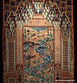 A close up view of the pictorial masterpiece rug by Mohammad Seirafian, Isfahan, Iran.jpg