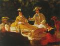 A família do 2.º conde de Carvalhal num piquenique na Quinta do Palheiro Ferreiro (1865) - Tomás da Anunciação.png