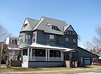 National Register of Historic Places listings in Clinton County, New York - Image: A house in the Brinkerhoff Street Historic District, Plattsburgh, New York