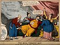 A mandarin falls back fainting onto a settee, attended by th Wellcome V0011334.jpg