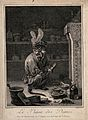 A monkey holding a clyster in an apothecary's shop; satirizi Wellcome V0011663.jpg